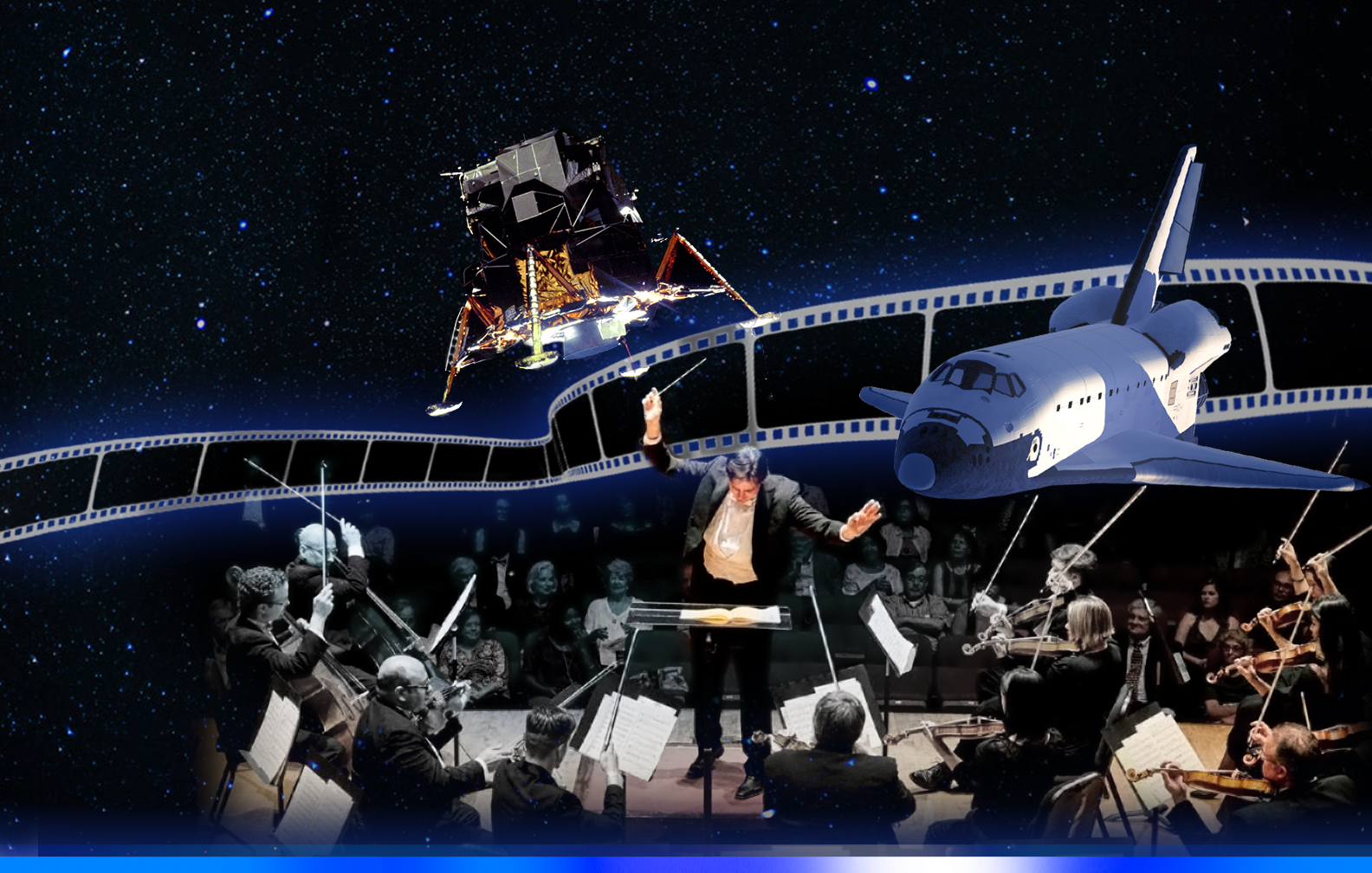 One Small Step tells the story of space flight with music of Aaron Copland and NASA footage.