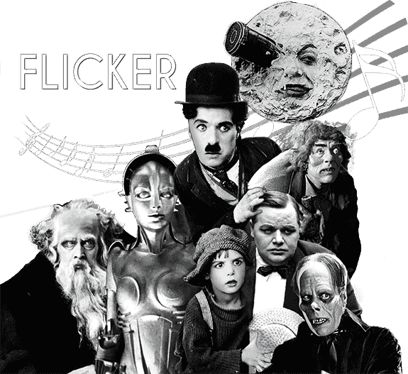 Main Cast, Film Score In Reverse entertains with Flicker, enhancing musical performance with silent films.