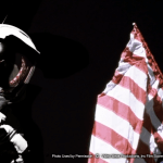 space suit and american flag up close Appalachian