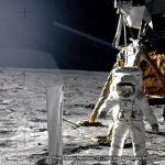 space suit moon and lander Appalachian